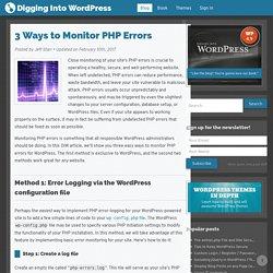 3 Ways to Monitor PHP Errors