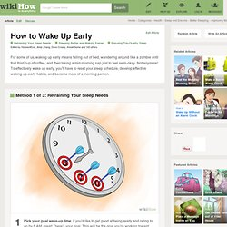 How to Wake Up Early: 7 steps