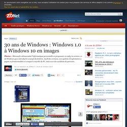 30 ans de Windows : Windows 1.0 à Windows 10 en images
