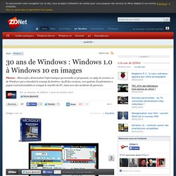30 ans de Windows : Windows 1.0 à Windows 10 en images