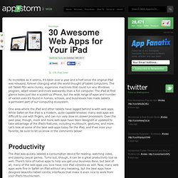 30 Awesome Web Apps for Your iPad