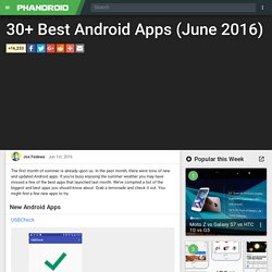 30+ Best Android Apps (June 2016)