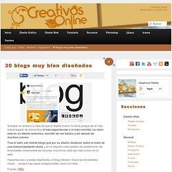 30 blogs muy bien diseñados