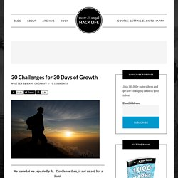30 Challenges for 30 Days of Growth
