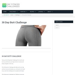 30 Day Butt Challenge Fitness Workout