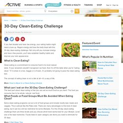 30-Day Clean-Eating Challenge