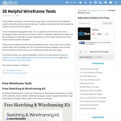 30 Helpful Wireframe Tools