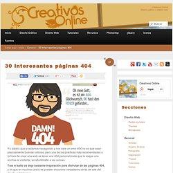 30 Interesantes páginas 404