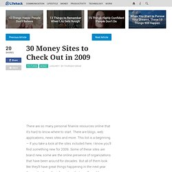 30 Money Sites to Check Out in 2009 - Stepcase Lifehack