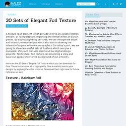 30 Sets of Elegant Foil Texture