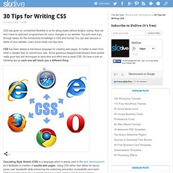 30 Tips for Writing CSS