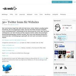 30+ Twitter Icons für Websites