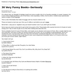 30 Very Funny Books--Seriously - StumbleUpon