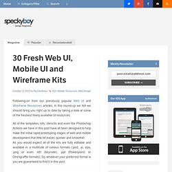 30 Fresh Web UI, Mobile UI and Wireframe Kits