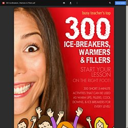 300 Ice-Breakers, Warmers & Fillers.pdf