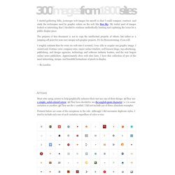 300 Images From 1800 Sites