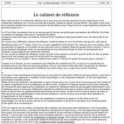 3012-8 : Le cabinet de réflexion