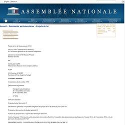 N°3096 - Projet de loi de finances pour 2016