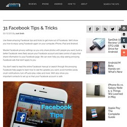31 Facebook Tips & Tricks