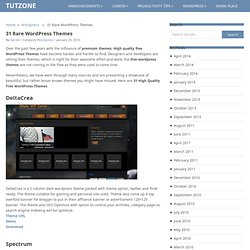 31 Rare Wordpress Themes | TutZone