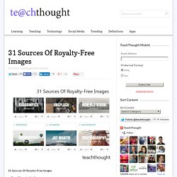 31 Sources Of Royalty-Free Images