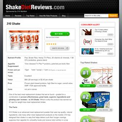 310 Shake Reviews By Shake Diet Reviews