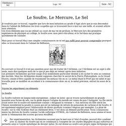 3183-1 : Le Soufre Le Mercure Le Sel
