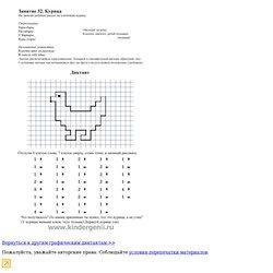 Графический диктант. Рисуем по клеточкам курицу