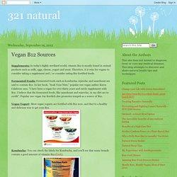 Vegan B12 Sources
