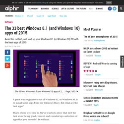 33 best Windows 8.1 (and Windows 10) apps of 2015
