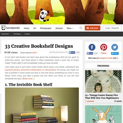 33 Creative Bookshelf Designs
