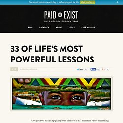 33 of Life's Most Powerful Lessons