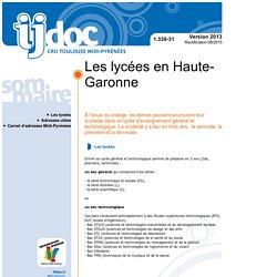 1.330-31 - Les lycées en Haute-Garonne