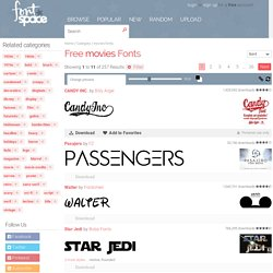 340 Free movies fonts