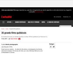 35 grands films québécois