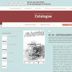 n° 35 – HÉTÉROGÉNÉITÉ – Recherches