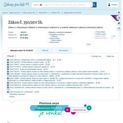350/2011 Sb. Chemický zákon