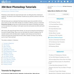 350 Photoshop Tutorials | Best Photoshop Tutorials - StumbleUpon