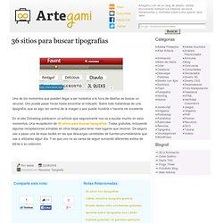 36 sitios para buscar tipografías