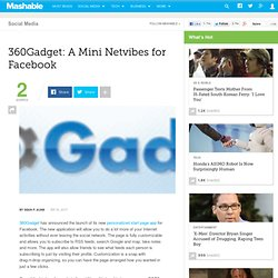 360Gadget: A Mini Netvibes for Facebook - Flock