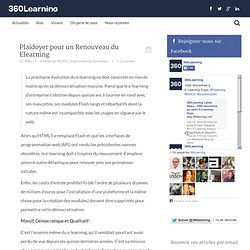 Plaidoyer pour Renouveau du Elearning « 360Learning Le Blog360Learning Le Blog