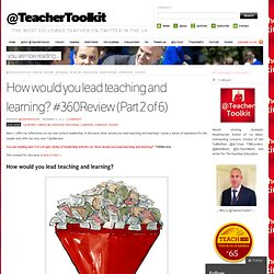 How would you lead teaching and learning? #360Review (Part 2 of 6)