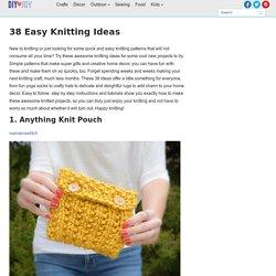 38 Easy Knitting Ideas - DIY Joy