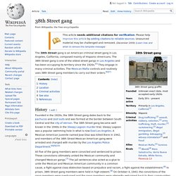 38th Street gang - Wikipedia