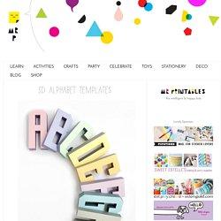 3D Alphabet Templates