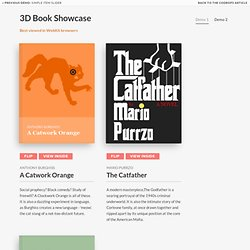 3D Book Showcase