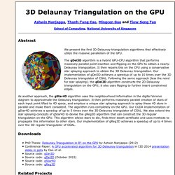 3D Delaunay Triangulation on the GPU
