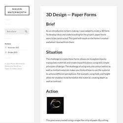 3D Design — Paper Forms