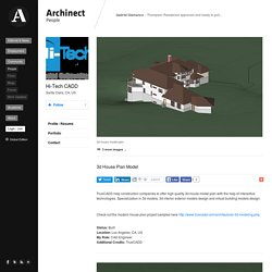 3D Architectural House Plan Model