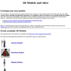 3D Models and Alice